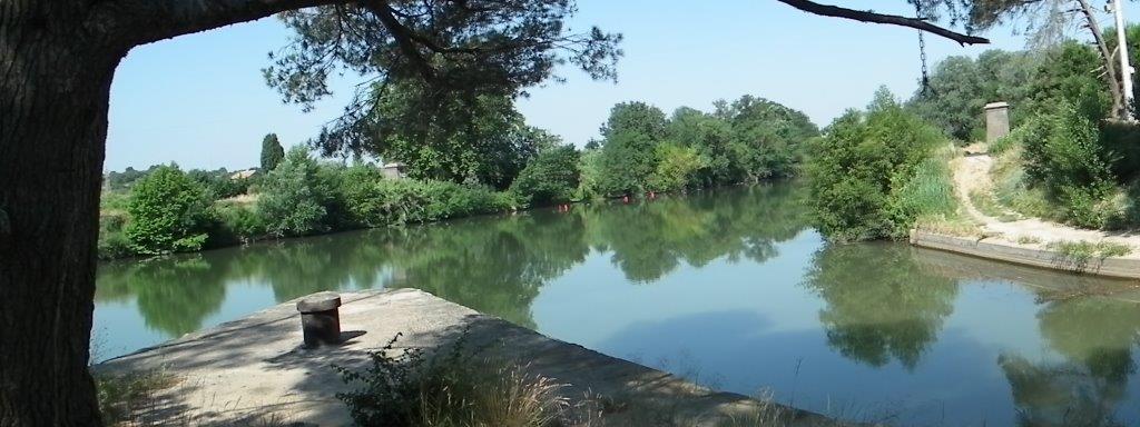 Le canal de Jonction, et la traversée de l'Aude
