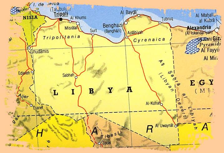 LIBYE Cartes
