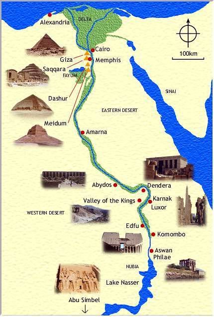 EGYPTE  Cartes