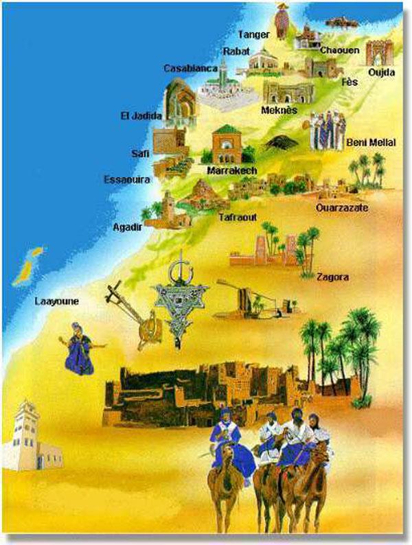 Maroc Cartes