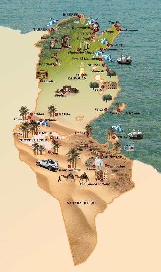 TUNISIE Cartes