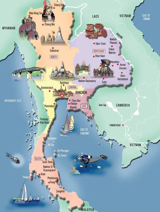 Thailande Cartes